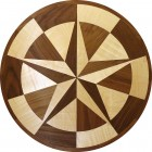 Texas Star Wood Floor Medallion Inlay