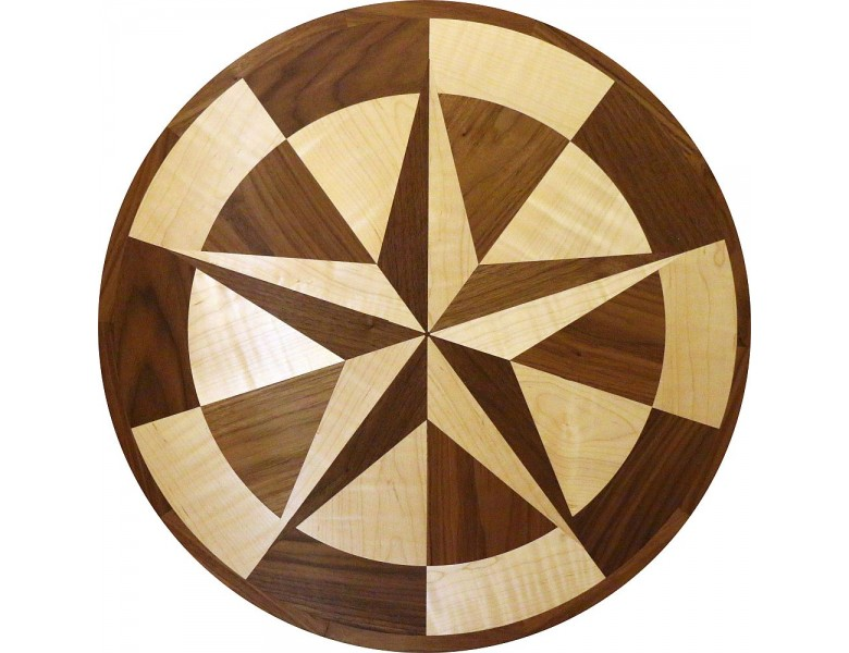index medallion inlay floor wood rose eurybia compass