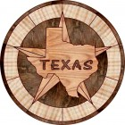 Texas Star & State Wood Floor Medallion