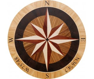 Hardwood Floor Medallion Inlay